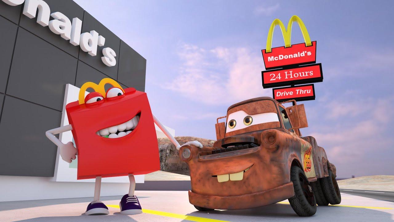 mater misbehaves at mcdonalds disney pixar cars toys