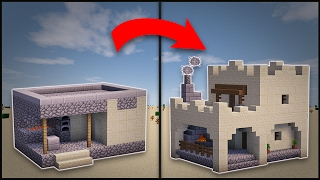 minecraft desert village blacksmith remodel buildings blueprints forge houses transform easy