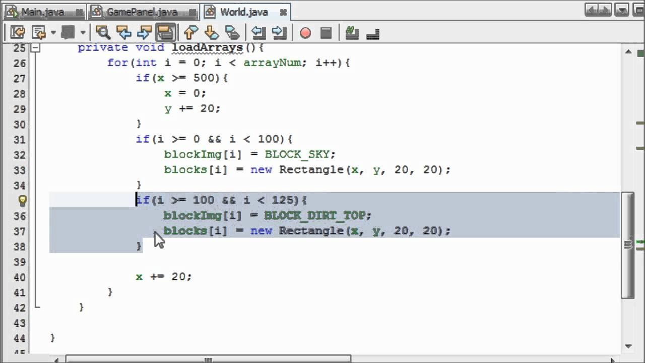 Creating a tiled map 4 intermediate java game programming creating a tiled map 4 intermediate java game programming tutorials thejavahub baditri Images
