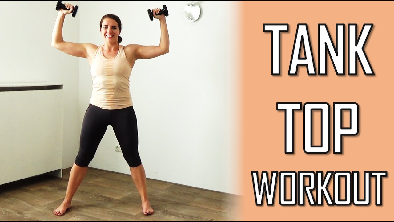 10 Minute Tank Top Workout for Arms & Shoulders – With Dumbbells