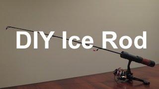 diy spinning ice fishing rod