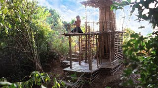 Build Technologically Modern Wooden And Bamboo Two Story Villa Under The Big Tree Part 1