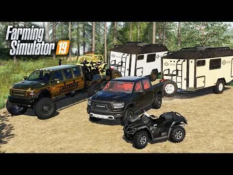 FS19- CAMPING WITH THE NEW ADAK OFF-ROAD CAMPER, POLARIS RAZOR & ATV thumbnail