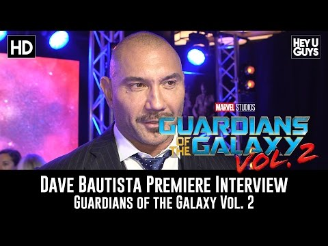 Dave Bautista Premiere Interview - Guardians of the Galaxy Vol. 2