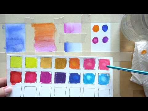 4 Watercolor Pencil Techniques - beginner