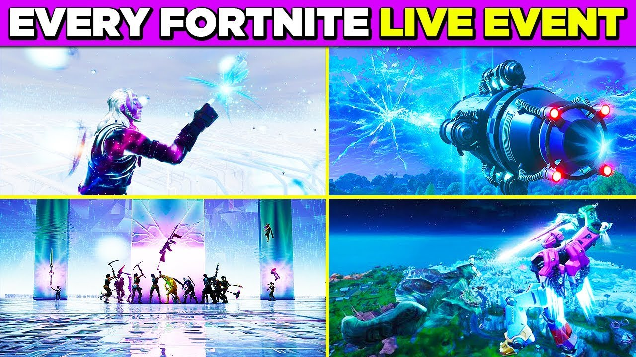 Fortnite ALL LIVE EVENTS So Far Leading to SEASON 11 ...