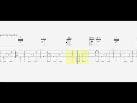 Guitar Fingerstyle - Let Her Go - Guitar Tab - Slow - Play Along