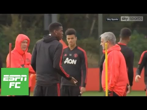 Jose Mourinho and Paul Pogba strange confrontation in training: Was it staged? | ESPN FC