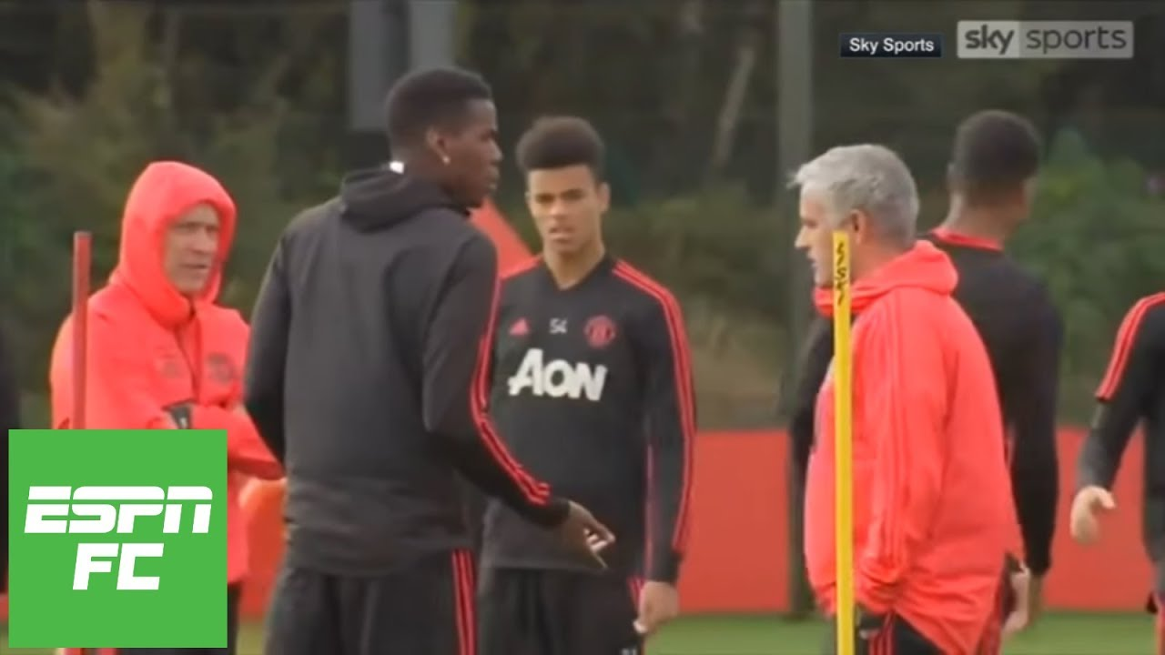 Jose Mourinho and Paul Pogba strange confrontation in training: Was it staged?   ESPN FC