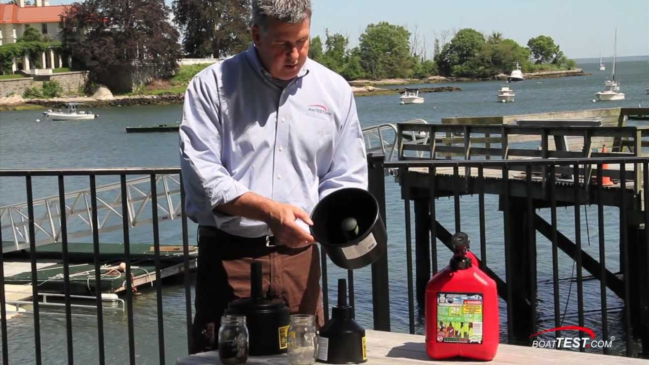 hight resolution of shurhold fuel filter funnel review by boattest com