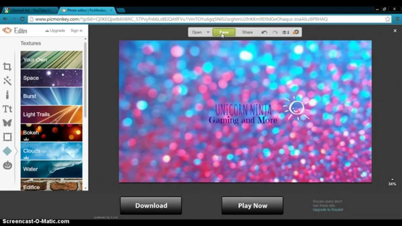 how to create channel art 2014