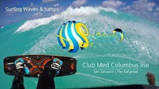 Clubmed Columbus Isle kitesurfing some waves
