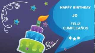 Jo - Card Tarjeta_587 - Happy Birthday