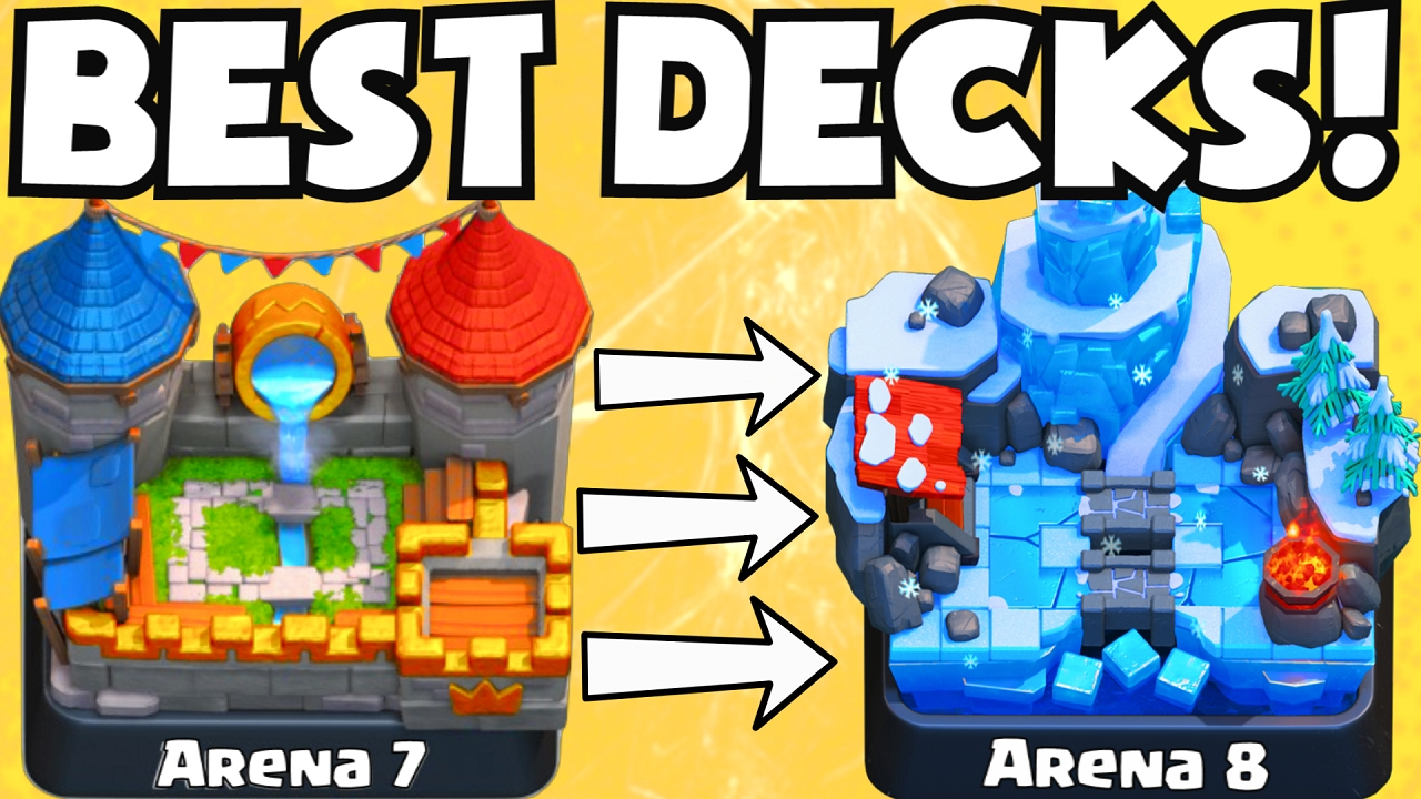 Clash Royale Best Deck For Arena 7 Arena 8 Decks Undefeated Best Attack Strategy Tips F2p Players Youtube