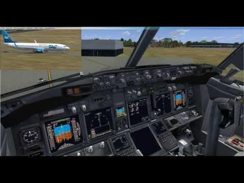 FSX PMDG 738 NGX Trans Air Congo Atterrissage a PN