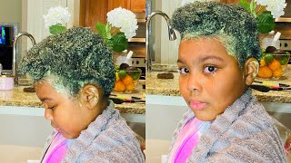 I tried Cardi Bs Hair Mask on my daughters 4c hair!!