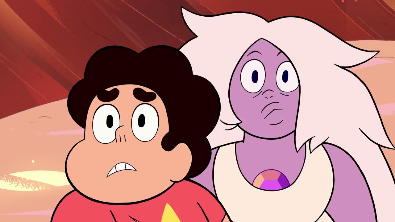 Steven Universo com música tema Diamante de Sangue   Village Attack