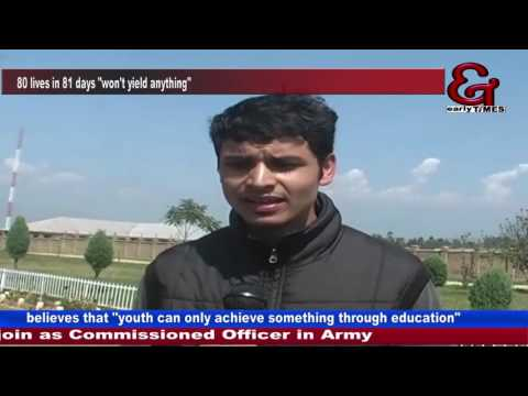 Anantnag youth secures fourth position to join Army as an officer