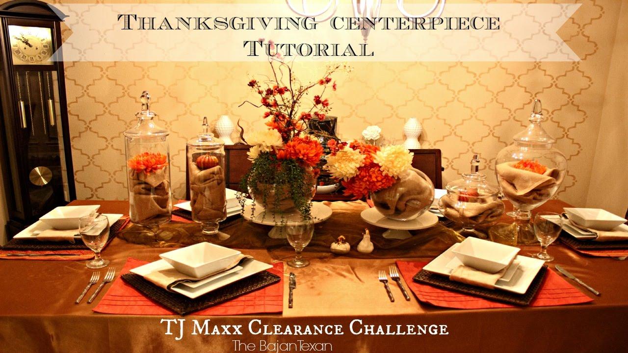 Thanksgiving Centerpiece Tutorial Tj Maxx Clearance