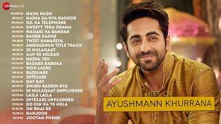 24 Hit songs Of Ayushmann Khurrana - Nazm Nazm, Naina Da Kya Kasoor, Dil Ka Telephone.....