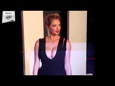 Kate Upton wears plunging black gown to Vanity Fair party shows off EXTREME cleavage thumbnail
