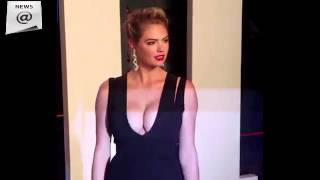 Kate Upton wears plunging black gown to Vanity Fair party show…