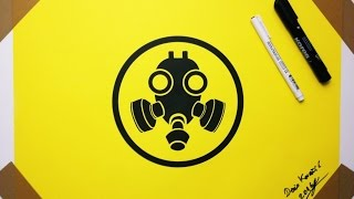 Gas Mask Drawing Sign - How to Draw Toxic Warning