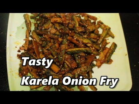 Tasty karela pyaz fry/ bitter gourd onion fry/KARELA sabzi