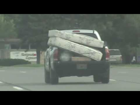Small Pickup Truck With Two Big Mattresses Telegraph Road