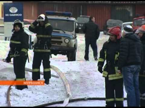 В Мурманске сгорел автосервис