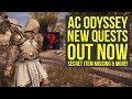 Assassin's Creed Odyssey DLC NEW QUEST, Secret Missing Item & Way More (AC Odyssey DLC)