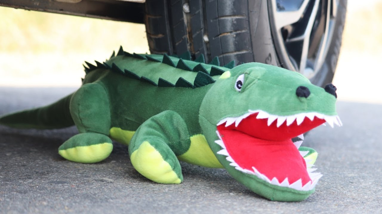 Download Experiment Car Vs Crocodile | Crushing Crunchy & Soft Things by Car