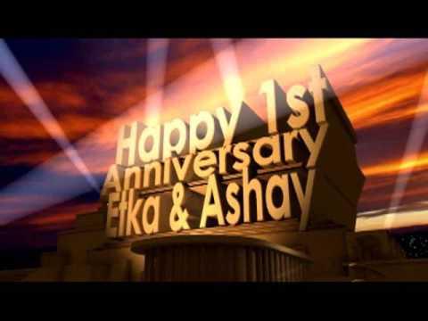 Happy Anniveresary Etka & Ashay