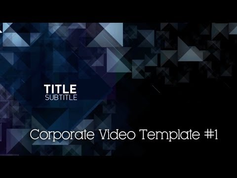 Corporate Video Template #1