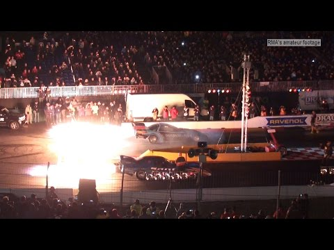 NitrOlympX 2016 - Nightshow - Dragonhunter vs Fireforce Jet Funny Car Match Race