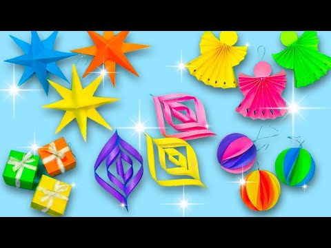 5 DIY CHRISTMAS DECORATIONS IDEAS! Paper Christmas Decorations!