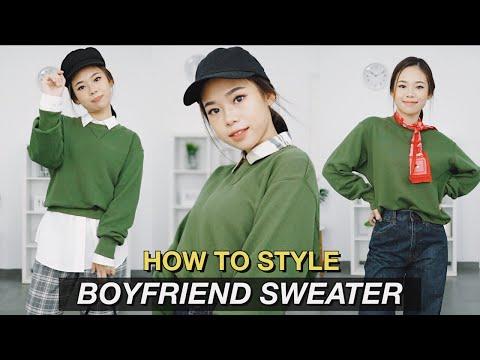 How to Style | 1 Boyfriend Sweater 11 Looks ✨