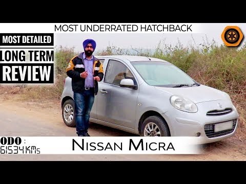 Micra Petrol 2010   Detailed Review   Long Term 60K KMs   Small yet Fun to Drive   Spare Wheel