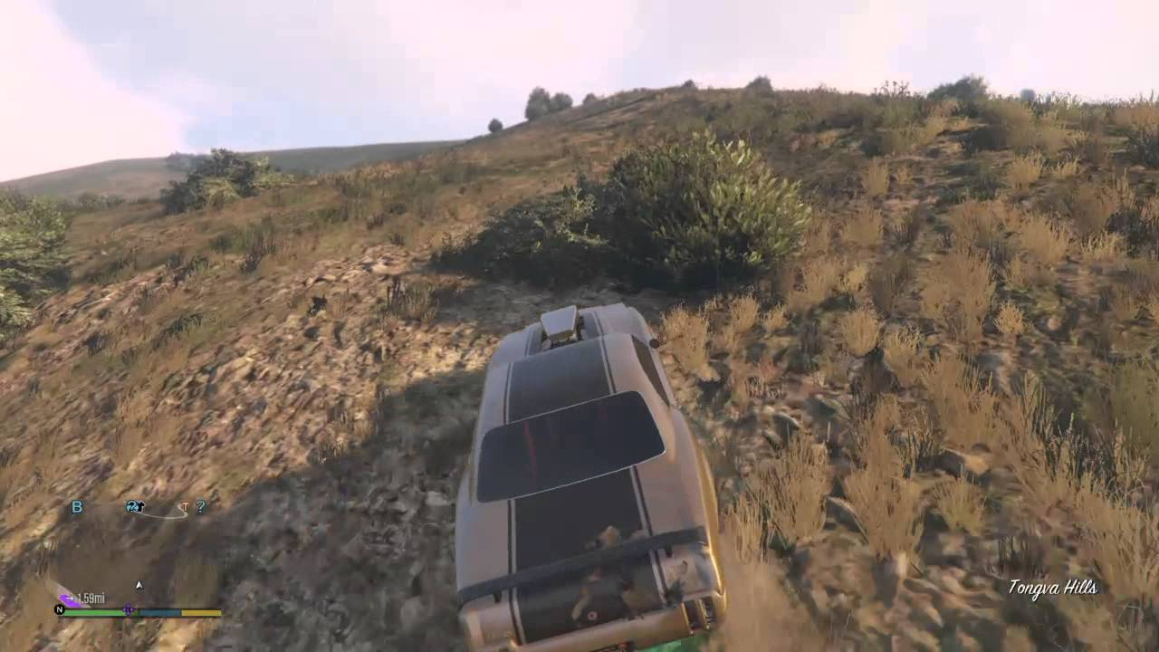 Gta V Muscle Car Turning Into Off Road Car Youtube