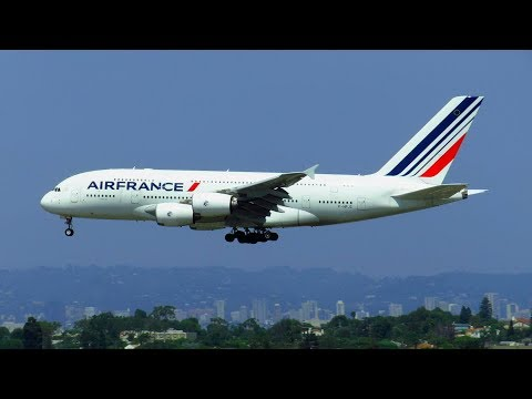 Air France Airbus A380 Landing at Los Angeles Intl. Airport (LAX) | F-HPJC