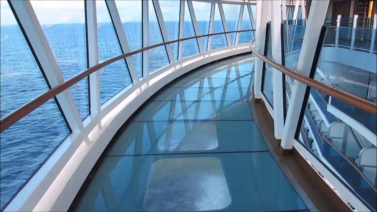 Seawalk On The Royal Princess Cruise Ship Youtube