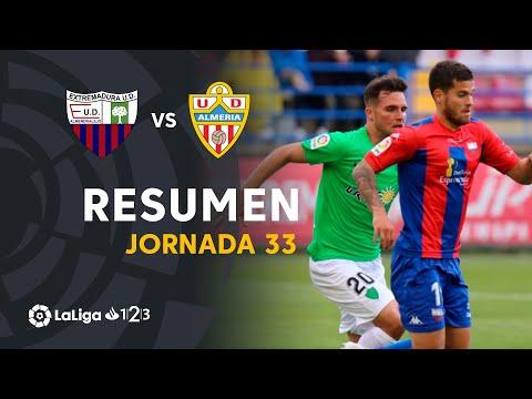 Resumen de Extremadura UD vs UD Almería (1-0)