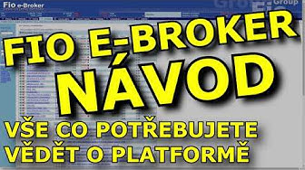 Návod e-Broker od Fio banky