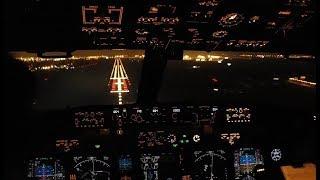 Pilots Eye - Cockpit Night Landing