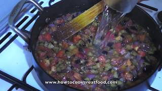 Aubergine & Tomato Pasta Sauce Recipe All Natural Vegan How To Cook Great Food Italian Egg Plant