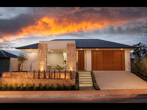 Contemporary single-storey residence designed by Lares Homes, located in Craigburn Farm, Australia.