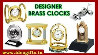 Brass Metal Table Clocks & Miniatures Corporate Wooden Desktop Sets Handicrafts Exporters In India.