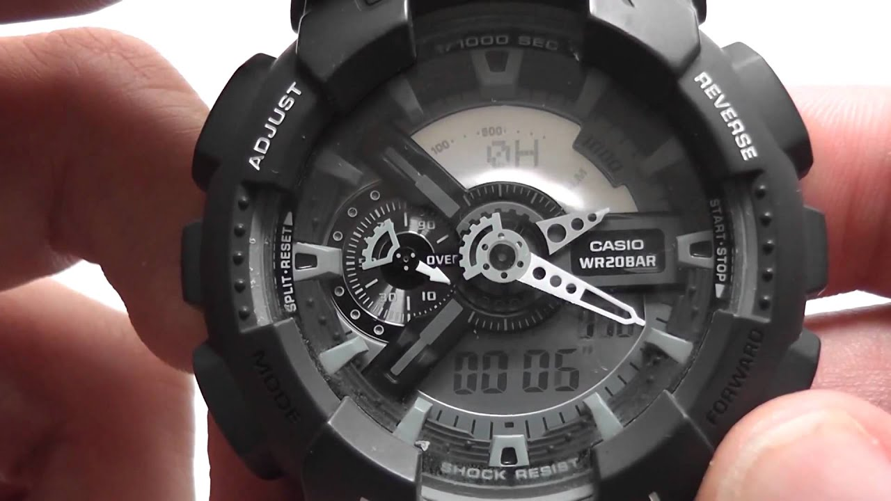 8e2fa04bf1b5 how to measure speed with a Casio G-shock GA 110C-1Aer - YouTube