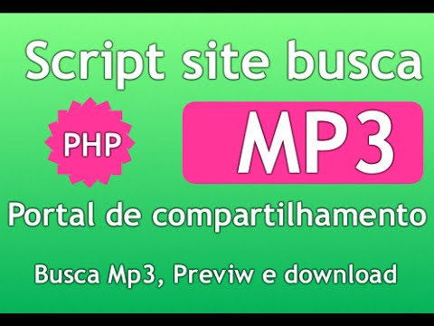 Criar site de download mp3