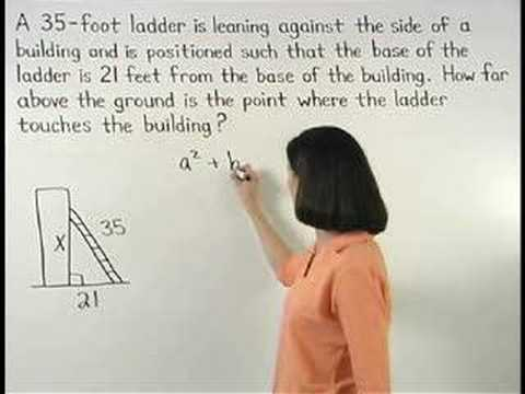 Pythagorean Theorem Word Problems Independent Practice Worksheet